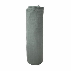 Mother Nature's Best Market Mushie Roman Green Organic Muslin Swaddle Cruelty-Free, Organic, Reusable/Recyclable