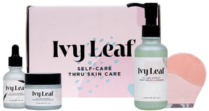 Mother Nature's Best Market Ivy Leaf Skincare Complete 3-Step Routine All-Natural, Cruelty-Free, Gluten-Free, Vegan