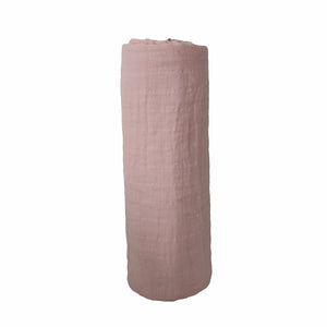 Mother Nature's Best Market Mushie Rose Vanilla Organic Muslin Swaddle Cruelty-Free, Organic, Reusable/Recyclable