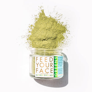 Mother Nature's Best Market LUA skincare FEED YOUR FACE SUPERGREENS Powdered Face Mask All-Natural, Cruelty-Free, Gluten-Free, Reusable/Recyclable, Vegan