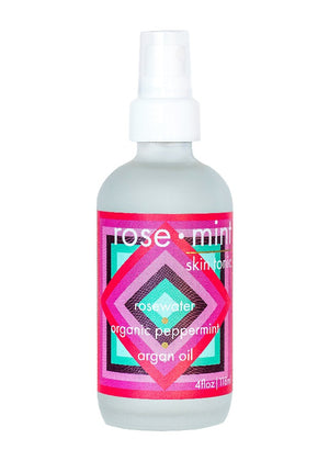 Mother Nature's Best Market LUA skincare ROSE MINT Skin Tonic All-Natural, Cruelty-Free, Gluten-Free, Reusable/Recyclable, Vegan