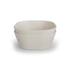Mother Nature's Best Market Mushie Square Bowls Ivory (Set of 2) Cruelty-Free, Reusable/Recyclable