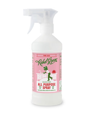 Mother Nature's Best Market Rebel Green All Purpose Spray: Pink Lilac Cruelty-Free, Organic, Reusable/Recyclable, Vegan
