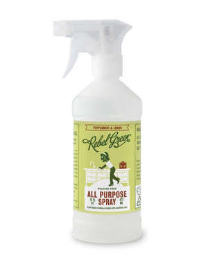Mother Nature's Best Market Rebel Green All Purpose Spray: Peppermint & Lemon Cruelty-Free, Organic, Reusable/Recyclable, Vegan
