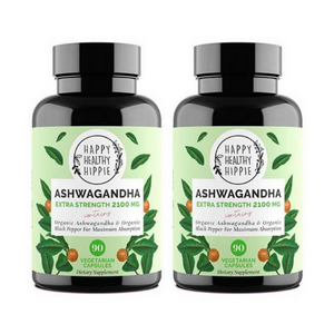 Happy Healthy Hippie Organic Ashwagandha x2 Bundle