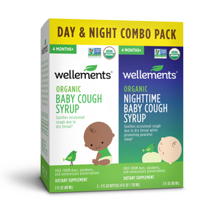 Mother Nature's Best Market Wellements Organic Baby Cough Day/Night Combo Pack Gluten-Free, Organic