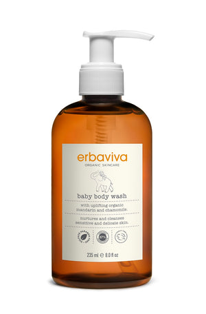 Mother Nature's Best Market Erbaviva Baby Body Wash Cruelty-Free, Vegan