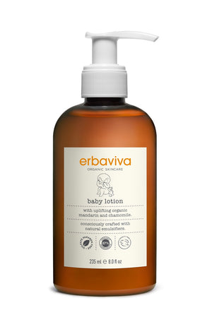 Mother Nature's Best Market Erbaviva Baby Lotion Cruelty-Free, Vegan