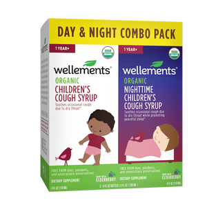 Mother Nature's Best Market Wellements Organic Child Cough Day/Night Combo Pack Gluten-Free, Organic