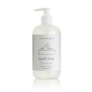 Mother Nature's Best Market Common Good Hand Soap, Lavender Cruelty-Free, Reusable/Recyclable