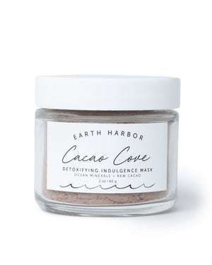 Mother Nature's Best Market Earth Harbor Naturals CACAO COVE Detoxifying Indulgence Mask All-Natural, Cruelty-Free, Organic, Vegan
