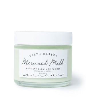 Mother Nature's Best Market Earth Harbor Naturals MERMAID MILK Nutrient Glow Moisturizer All-Natural, Cruelty-Free, Organic, Vegan