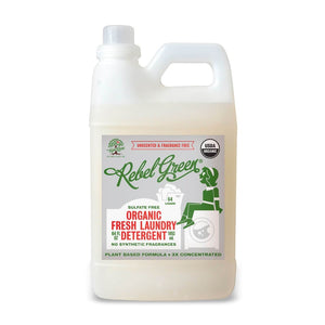 Mother Nature's Best Market Rebel Green Fresh Laundry Detergent: Unscented Cruelty-Free, Organic, Reusable/Recyclable, Vegan