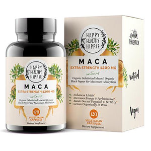 Mother Nature's Best Market Happy Healthy Hippie Organic Maca All-Natural, Cruelty-Free, Organic