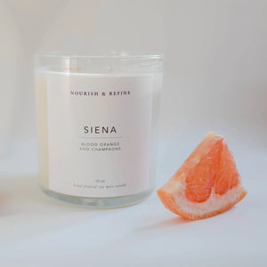 Mother Nature's Best Market Nourish & Refine Siena Hand Soy Candle All-Natural, Cruelty-Free, Organic, Reusable, Recyclable, Vegan