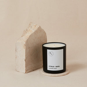Mother Nature's Best Market Modern Theory Citrus + Basil Candle All-Natural, Cruelty-Free, Gluten-Free, Reusable, Recyclable, Vegan