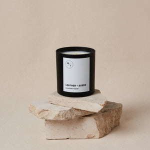 Mother Nature's Best Market Modern Theory Leather + Suede Candle All-Natural, Cruelty-Free, Reusable, Recyclable, Vegan