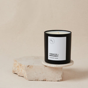 Mother Nature's Best Market Modern Theory Tobacco + Bergamot Candle All-Natural, Cruelty-Free, Gluten-Free, Reusable, Recyclable, Vegan