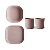 Mushie Dinnerware Bundle, Blush