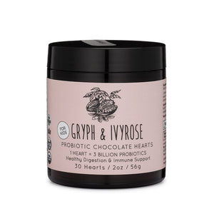 Mother Nature's Best Market Gryph & IvyRose Probiotic Chocolate Hearts Cruelty-Free, Organic
