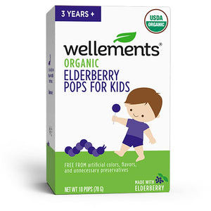 Mother Nature's Best Market Wellements Organic Elderberry Pops for Kids Gluten-Free, Organic