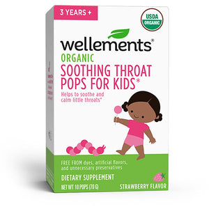 Mother Nature's Best Market Wellements Organic Soothing Throat Pops for Kids Gluten-Free, Organic