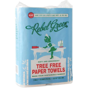 Mother Nature's Best Market Rebel Green Tree Free Paper Towel 2 Pack Cruelty-Free, Organic, Reusable/Recyclable, Vegan