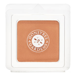 Mother Nature's Best Market Honeybee Gardens Pressed Mineral Powder Foundation Color Sultana Cruelty-Free, Gluten-Free, Reusable, Recyclable, Vegan
