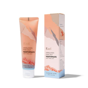 Mother Nature's Best Market Rael Himalayan Pink Salt Toothpaste, Gel in Sweet Herbal Mint Cruelty-Free, Vegan