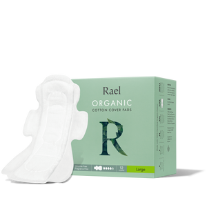 Mother Nature's Best Market Rael Organic Cotton Large Pads Cruelty-Free, Vegan