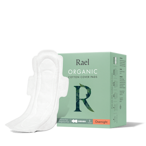 Mother Nature's Best Market Rael Organic Cotton Overnight Pads Cruelty-Free, Vegan