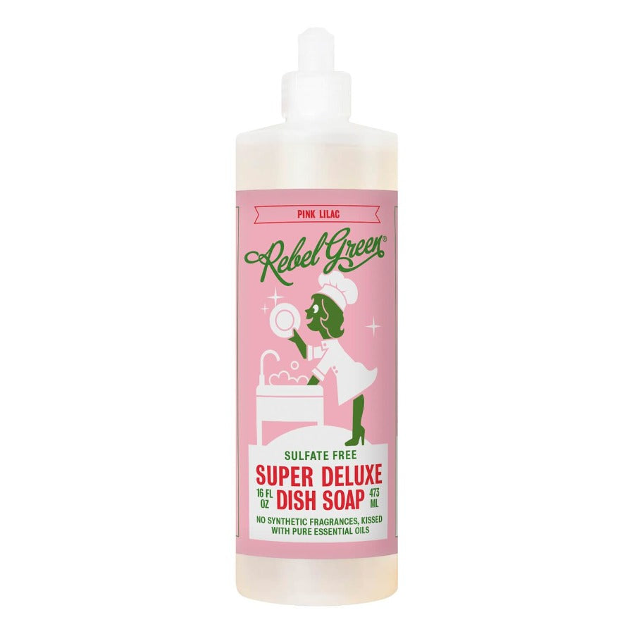 Rebel Green Super Deluxe Dish Soap: Pink Lilac