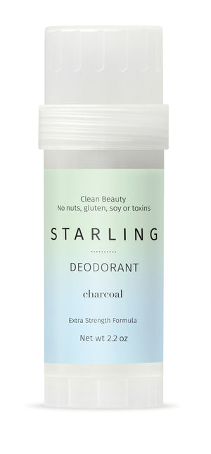 Mother Nature's Best Market Starling Skincare Charcoal Extra Strength Deodorant All-Natural, Gluten-Free, Reusable/Recyclable