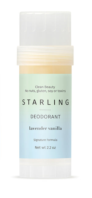 Mother Nature's Best Market Starling Skincare Lavendar Vanilla Deodorant All-Natural, Gluten-Free, Reusable,Recyclable