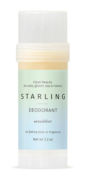 Mother Nature's Best Market Starling Skincare Sensitive Deodorant  All-Natural, Gluten-Free, Reusable, Recyclable