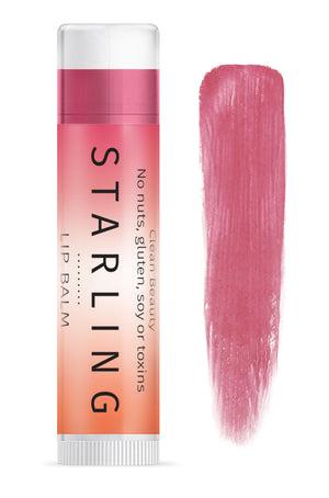 Mother Nature's Best Market Starling Skincare Sangria Lip Balm All-Natural, Gluten-Free, Organic, Reusable, Recyclable