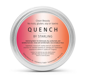 Mother Nature's Best Market Starling Skincare Quench Hydrating BalmAll-Natural, Gluten-Free, Organic, Reusable, Recyclable