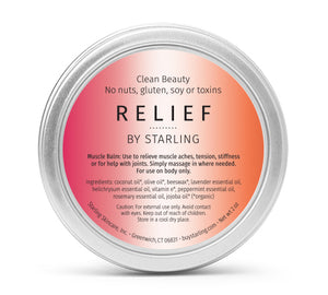 Mother Nature's Best Market Starling Skincare Relief Muscle Balm All-Natural, Gluten-Free, Organic, Reusable, Recyclable