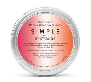Mother Nature's Best Market Starling Skincare Simple Multitasking BalmAll-Natural, Gluten-Free, Organic, Reusable, Recyclable
