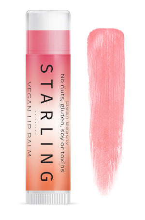Mother Nature's Best Market Starling Skincare Vegan Blush Lip Balm All-Natural, Gluten-Free, Organic, Reusable, Recyclable, Vegan