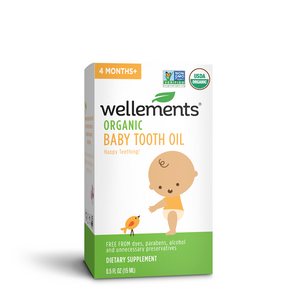 Mother Nature's Best Market Wellements Organic Baby Tooth Oil Gluten-Free, Organic, Vegan