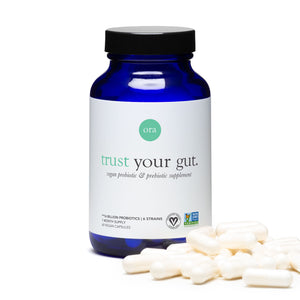 Mother Nature's Best Market Ora Organic Trust Your Gut: Probiotic Capsules Gluten-Free, Organic, Vegan