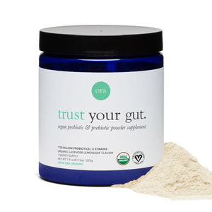 Mother Nature's Best Market Ora Organic Trust Your Gut: Probiotic Powder - Lavender Lemonade Gluten-Free, Organic, Vegan