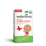Mother Nature's Best Market Wellements Organic Vitamin D Drops Gluten-Free, Organic, Vegan
