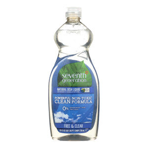 Mother Nature's Best Market Seventh Generation Dish Liquid - Free and Clear Cruelty-Free, Gluten-Free, Reusable/Recyclable 25 oz