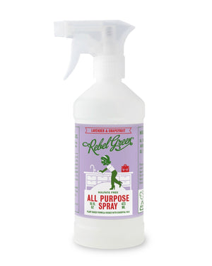 Mother Nature's Best Market Rebel Green All Purpose Spray: Lavender & Grapefruit Cruelty-Free, Organic, Reusable/Recyclable, Vegan