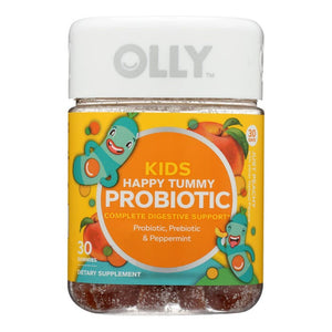 Mother Nature's Best Market Olly Kids Happy Tummy Probiotic & Prebiotic Gluten-Free, Organic, Reusable/Recyclable