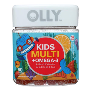 Mother Nature's Best Market Olly Kids Multivitamin Plus Omega 3 Gluten-Free, Organic, Reusable/Recyclable