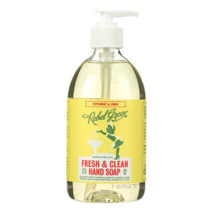 Mother Nature's Best Market Rebel Green Hand Soap: Peppermint & Lemon Cruelty-Free, Organic, Reusable/Recyclable