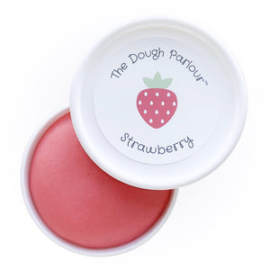 Mother Nature's Best Market The Dough Parlour Individual Dough Tub: Strawberry All-Natural, Cruelty-Free, Reusable/Recyclable, Vegan